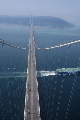 明石海峡大橋の頂上