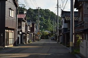 新潟・出雲崎の町並み