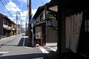京都西陣の町並み